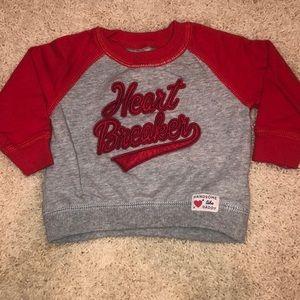 Carter's boys 9M raglan 'Heart Breaker' sweatshirt